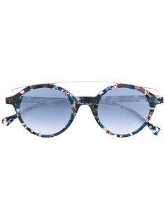 круглые солнцезащитные очки с узором Res Rei