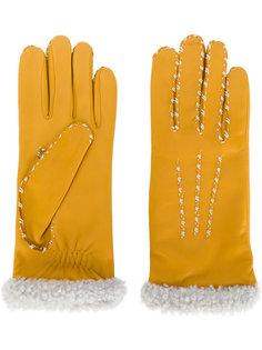 перчатки с контрастной окантовкой Agnelle