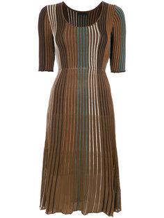 плиссированное платье в стиле колор блок Osklen