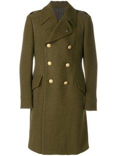 """пальто в стиле """"милитари"""" на пуговицах Lardini"""