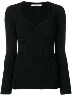 приталенный свитер с ребристой фактурой Givenchy