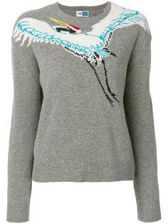 свитер с принтом птицы  Kenzo