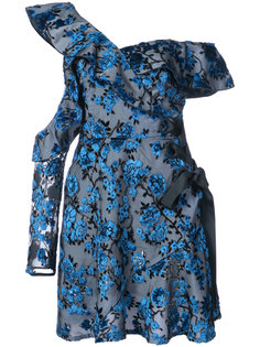 floral print one shoulder dress Self-Portrait
