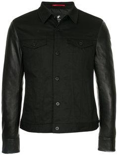 джинсовая куртка с контрастными рукавами Loveless