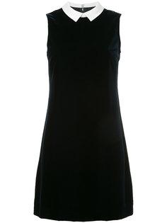 бархатное платье с воротником  Loveless