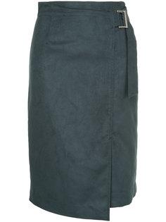 юбка с запахом и пряжкой  Loveless