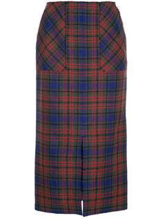 юбка-миди в шотландскую клетку Astraet