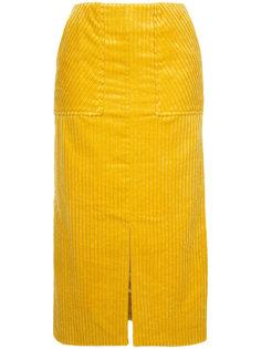 юбка-карандаш с ребристой фактурой Astraet