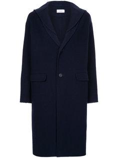 однобортное пальто с капюшоном Astraet