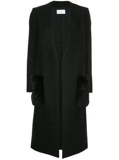 пальто с меховыми карманами Astraet