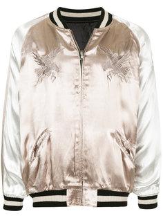 атласная куртка с вышивкой monkey time