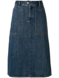 джинсовая юбка-карандаш  A.P.C.