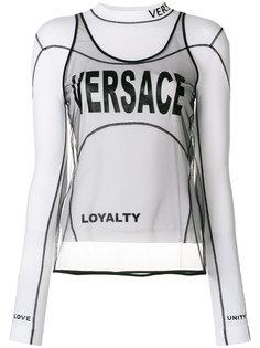 топ с многослойным дизайном Versace