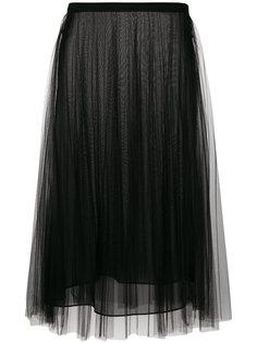 плиссированная юбка из тюля Versace
