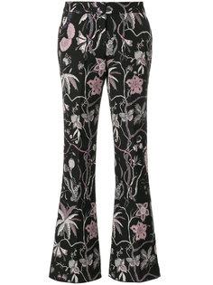брюки с жаккардовым цветочным узором  Giamba