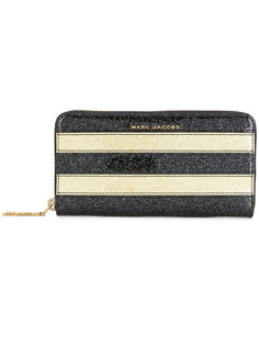 кошелек в полоску с блестками Marc Jacobs