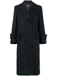 свободное пальто в полоску  MSGM