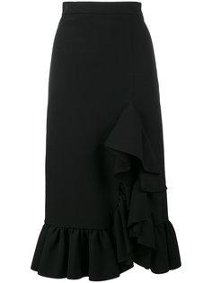 юбка миди с оборкой сбоку  MSGM