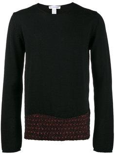 свитер с контрастным подолом Comme Des Garçons Homme Plus