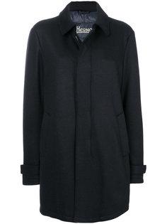 утепленное классическое пальто Herno