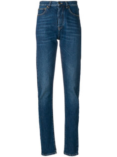 узкие джинсы средней посадки Saint Laurent