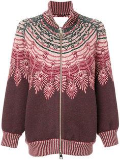 свитер на молнии с узором  Giada Benincasa