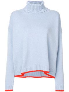 свитер с отворотом и контрастной отделкой  Giada Benincasa