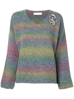 свитер в полоску с отделкой  Giada Benincasa