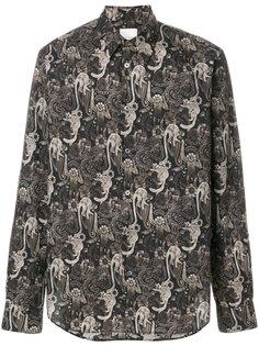 рубашка с абстрактным принтом Paul Smith