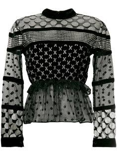 блузка с миксом принтов Dodo Bar Or