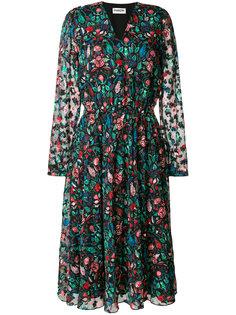 прозрачное платье с цветочным принтом Essentiel Antwerp