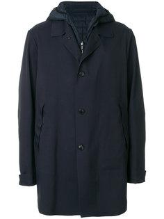однобортная куртка со стеганой вставкой Liska