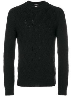 текстурный вязаный свитер Boss Hugo Boss