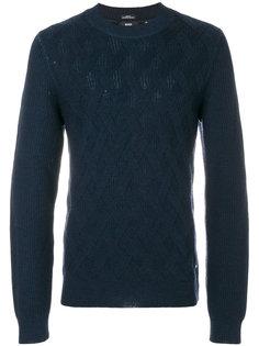 фактурный трикотажный свитер  Boss Hugo Boss