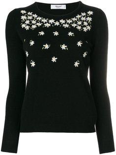 свитер с цветочной вышивкой  Blugirl