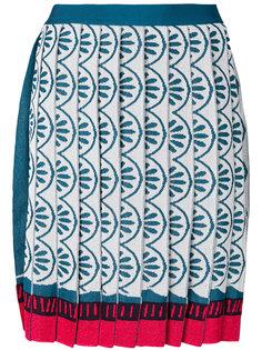плиссированная жаккардовая юбка  Mary Katrantzou