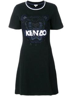 платье-футболка с нашивкой Tiger Kenzo