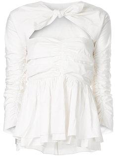 блузка с дизайном со сборкой Isa Arfen
