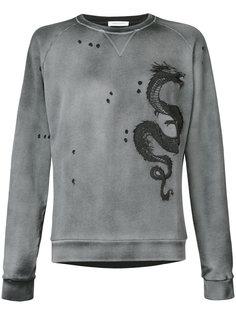 толстовка с вышивкой дракона Pierre Balmain