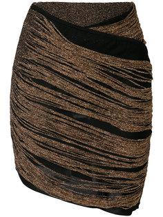 облегающая юбка сбахромой Balmain