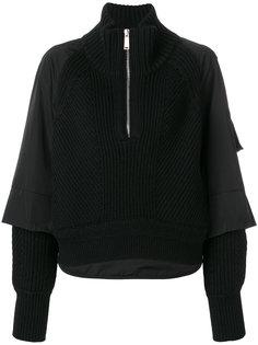 многослойный пуловер на молнии Dsquared2
