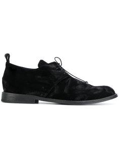бархатные туфли со шнуровкой Ann Demeulemeester
