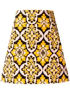 короткая юбка с винтажным принтом La Doublej