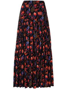 длинная юбка с цветочным принтом La Doublej