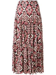 плиссированная юбка с винтажным принтом La Doublej