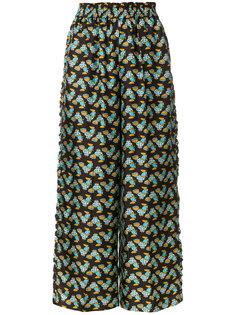 брюки с рюшами Choco Galletti  La Doublej
