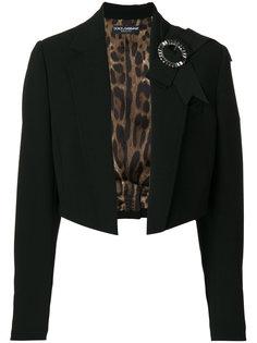 укороченный пиджак с бантом  Dolce & Gabbana