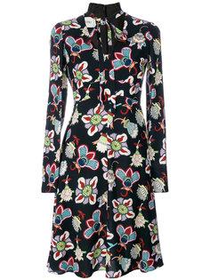 платье-рубашка с цветочным принтом  Valentino