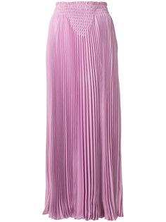 длинная плиссированная юбка Valentino
