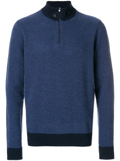 классический свитер с отворотной горловиной Hackett